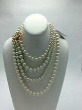$248 Kate Spade  Gold Tone Dazzling Daisies Multi Strand Pearl  Necklace