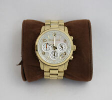 Michael Kors Gold Tone Stainless Steel Mother Of Pearl Chronograph MK5305 Watch