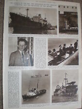 Photo article shipping Jaroslaw Dabrowski in Thames & Mildred off Aldeburgh 1954