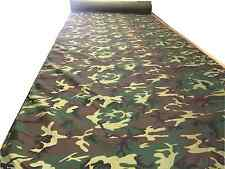 """5 Yards Woodland HUNTING CAMO FABRIC 450D BLIND CAMOUFLAGE (60""""wide) SECONDS"""