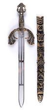 Schlacht Schwert mit Hülle NEU - Zubehör Accessoire Karneval Fasching