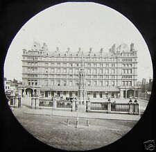 Glass Magic Lantern Slide CHARING CROSS STATION & HOTEL THE STRAND C1890 LONDON