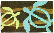Hawaiian Sea Turtles Area Door Rug Bath Floor Mat Bathroom Home Island Decor NIB