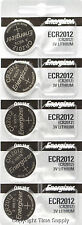 5 pcs 2012 Energizer Watch Batteries CR2012 CR 2012 3V Lithium Battery 0%HG