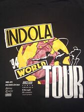 Vintage Indola World Tour 1994 T-Shirt Milan Barcelona London Paris
