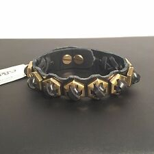 Giles & Brother Hippolyta Leather Cuff Giles and Brother Philip Crangi Gold