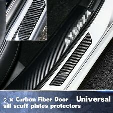 2X Car Scuff Plate Door Sill Cover Step Panel ProtectorGuard Really Carbon Fiber