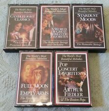 Lot of 5 READERS DIGEST Various Music Collections Cassette Tapes
