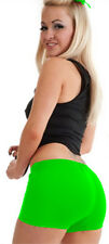 LADIES/GIRLS NEON LYCRA STRETCHY SEXY HOT PANTS SHORTS DANCE GYM PARTY