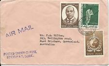 1973? Airmail envelope to Australia Used Posted Under Clause 57 (7) P & T Guide