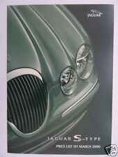 Jaguar S-Type Price List 2000 - 3.0 V6, 3.0 V6 SE, 4.0 V8 Models