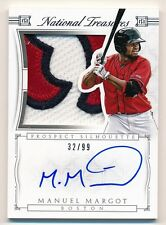 2016 National Treasures * MANUEL MARGOT * Jumbo Patch On Card Auto RPA * #32/99