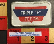 Triple F Feeds Advertising Logo Patch For Hat / Jacket Windsor Heights IA.  57CC