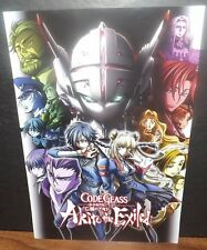"""Code Geass Akito The Exiled Poster 7"""" x 11"""" 2016 NYCC Exclusive Double Sided"""