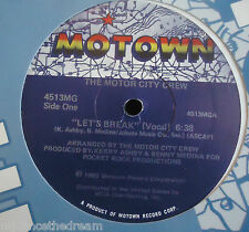 "THE MOTOR CITY CREW ~ Lets Break ~ 12"" Single USA PRESS"