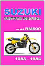 SUZUKI Workshop Manual RM500 1983 & 1984 VMX Service and Repair RM500D RM500E