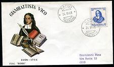 1968 - Giambattista Vico - n.1091  - Busta FDC