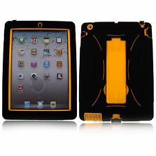 For Apple iPad 2 3 4 Mini Air Rugged Defender Hybrid Shockproof Hard Case Stand