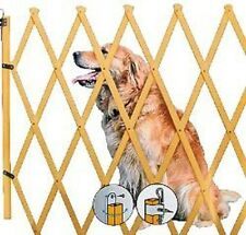 Dogs Barrier made of wood nature Fences Dog grid dog Divider