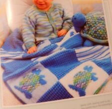 20 Knit Baby Infant Boy Girl Sweaters Blankets / Afghans Kitty Turtle Patterns