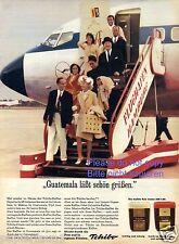 Tchibo Kaffee Reklame von 1965 Flughafen Hamburg Flugzeug Guatemala Werbung  ad
