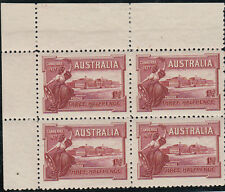 Stamps Australia Canberra 1927 commemorative stamp plate 12 block of 4, MUH