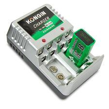 AC Wall US Plug Ni-Mh/Ni-Cd 4× AA / 4× AAA / 2× 9V Battery Charger