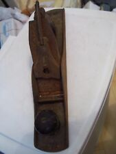 """ANTIQUE VINTAGE WOOD PLANE METAL PLANER 15"""" LONG MUST SEE PICTURES NO CLUE HERE*"""