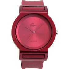 Lacoste Rio White Dial Pink Rubber Ladies Watch 2000699