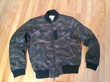 Ralph Lauren ma-1 Flight Bomber Down Camo Jacket, Size XL Slim Fit, Military