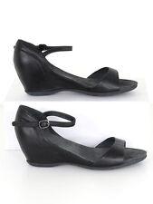 Camper femme noires talon compensé sandales taille 40 (uk 7)