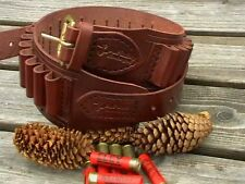 410 GAUGE HANDMADE LEATHER CARTRIDGE BELT HUNTING SHOOTING 410 BORE SHOTGUN 1