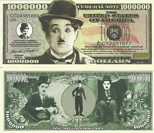 USA 'Charlie Chaplin' 1 Million US Dollar commemorative banknote UNC & CRISP