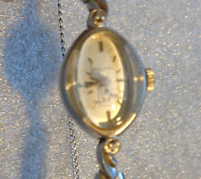 Lady vintage Bulova white gold filled 23j mechanical wristwatch