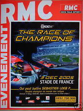 PUBLICITÉ RMC RADIO MONTE CARLO INFO TALK SPORT ÉVENEMENT THE RACE OF CHAMPIONS