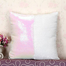 Bling Sequin Glitter Reversible Sofa Cushion Cover Pillow Case Double Color 16″