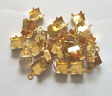 25 Crimps With Round Ends Fits 6mm 29ss Chain-Brass