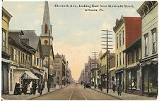 11th Avenue Looking East from 16th Street in Altoona PA Postcard