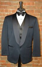 MENS 42 S NAVY BLUE  SHAWL TUXEDO JACKET / PANTS / SHIRT / BOW by AFTER SIX