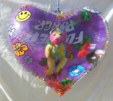 Heart Shape Inflate Blowup With Hanging Stuffed Bear Inside -Love-Valentine Gift