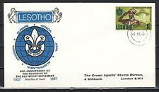 + Lesotho, Scott cat. 44. 60th Anniversary of Scouting on a First day Cover..