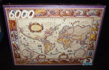 Huge! Schmidt Jigsaw Puzzle Ancient World Map 6000 Pieces Complete Sealed!