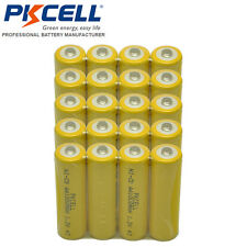 20 NICD AA 1000mAh Rechargeable Battery Button Top For Solar Garden Light PKCELL