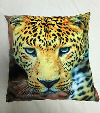 YELLOW BLACK CHEETAH PRINTED CUSHION COVER / PILLOWCASE 45X45CM | FREE POSTAGE