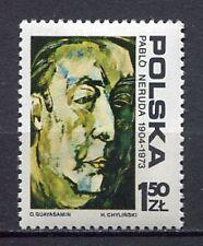 35880) POLAND 1974 MNH** Pablo Neruda 1v. Scott# 2072