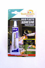 STRONG CLEAR ADHESIVE GLUE - Hard Plastic ABS TR EVA Perspex Acrylic Glass R-327