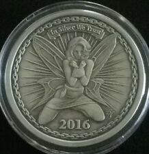 Silverbug Alyx the Fairy Proof Antiqued 1 oz .999 Silver Round Coin Rare HOT BU