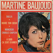 45TRS VINYL 7''/ FRENCH EP AZ MARTINE BAUJOUD / SIXTIES GIRL /MR CHARLIE CHAPLIN