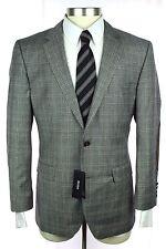 NWT HUGO BOSS The Smith11 Gray Glen Plaid Wool 2Btn Jacket Coat 52 42 42S $745