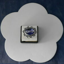 BEAUTIFUL 925 STERLING SILVER RING WITH IOLITE GEM SIZE S GR. 6.5 IN GIFT BOX